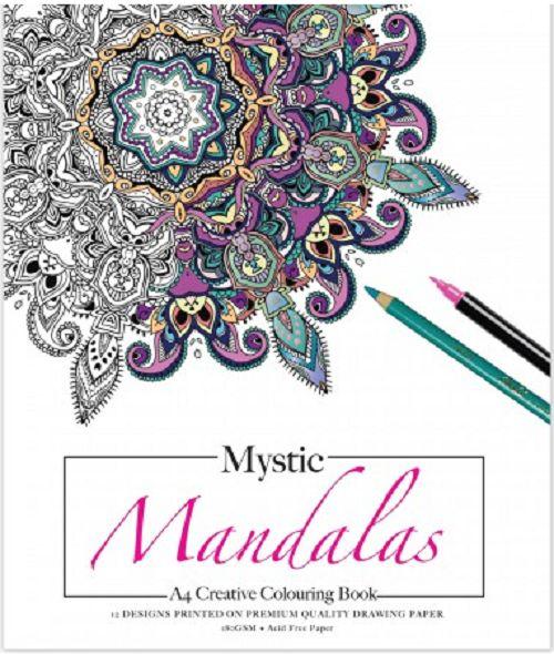 Mystic Mandalas Colouring Pad A4