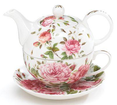 Saddlebrooke Pink Rose Tea for One