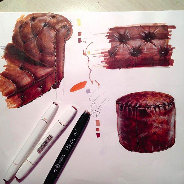 Leather chair marker rendering                                                                                                                                                                                 More