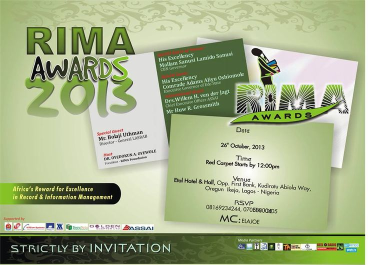 MRSHUSTLE PRESENTS: RECORDS AND INFORMATION MANAGEMENT AWARENESS AWARDS 2013