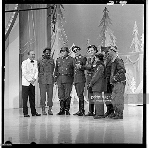 Bing Crosby, John Banner, Robert Clary, Bob Crane, Richard Dawson, Ivan Dixon, Larry Hovis, and Werner Klemperer in The Hollywood Palace (1964)