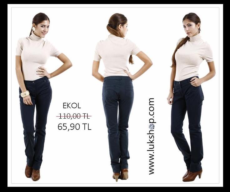 EKOL  Ekol Koyu Mavi Pantolon  http://www.lukshop.com/urun/2084/ekol-lacivert-pantolon
