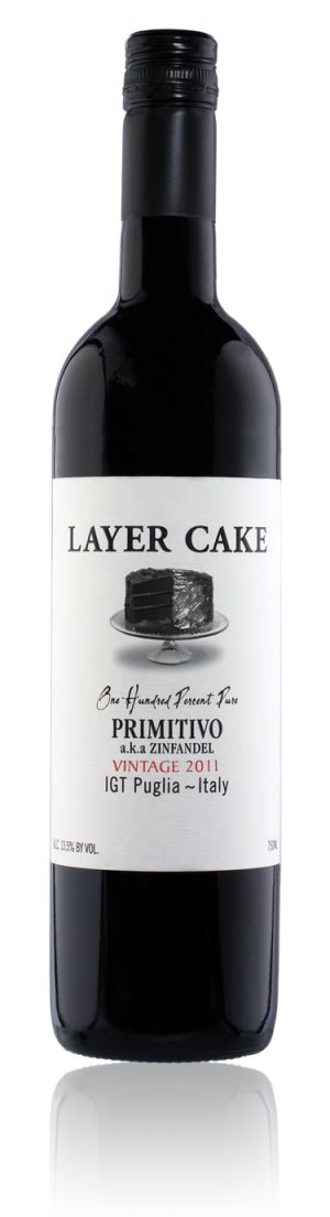 Everything you wanted to know about Layer Cake Primitivo ~ notes from the winemaker about the vineyards and the wine, and the down and dirty facts.