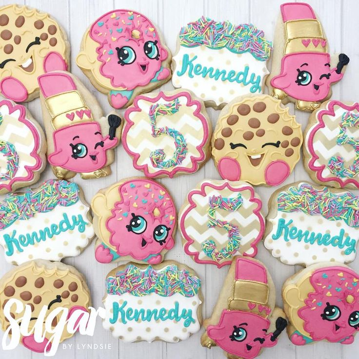 "Cookies for Kennedy's ""Shopkins and Sprinkles""... - Sugar by Lyndsie"