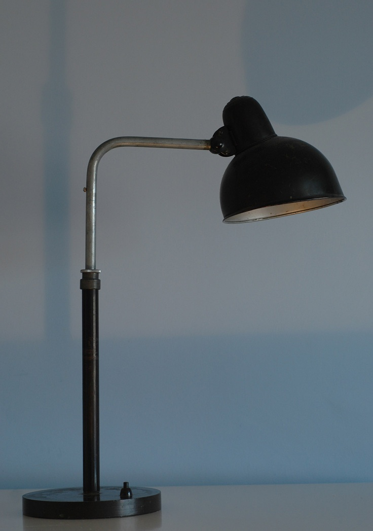 Epic This modernist table lamp was designed by the Weimar Bauhaus teacher Christian Dell for the Kaiser