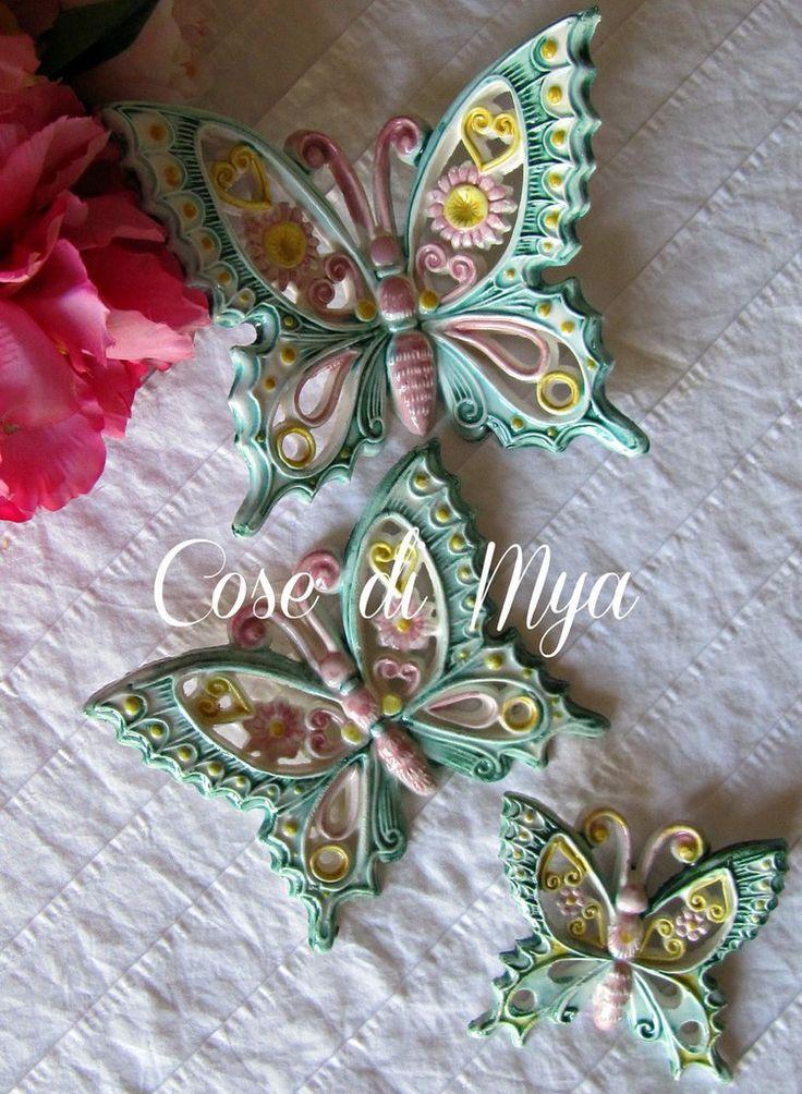 Coordinato Farfalle Ceramica, by COSE DI MYA, 45,00 € su misshobby.com