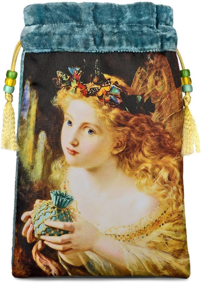 Baba Studio - Drawstring pouch- The Fair Face — teal blue silk velvet