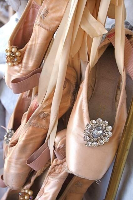 What a great thing to do with your old pointe shoes!