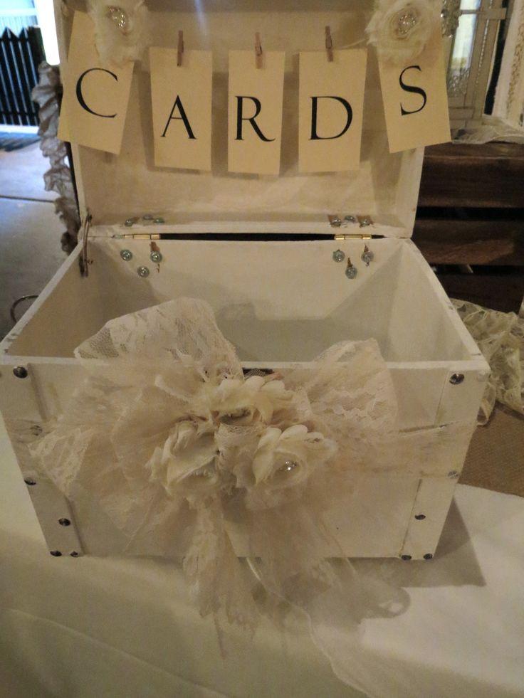 Shabby Chic Wedding Card Box by Its