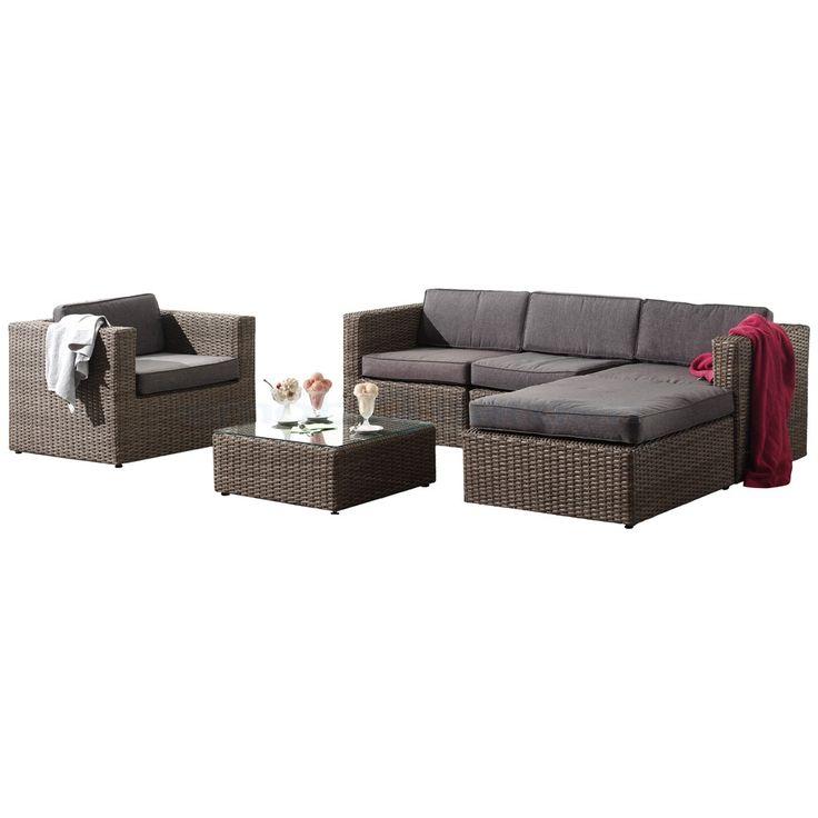 Torino loungeset bruin -  wicker loungesets kopen