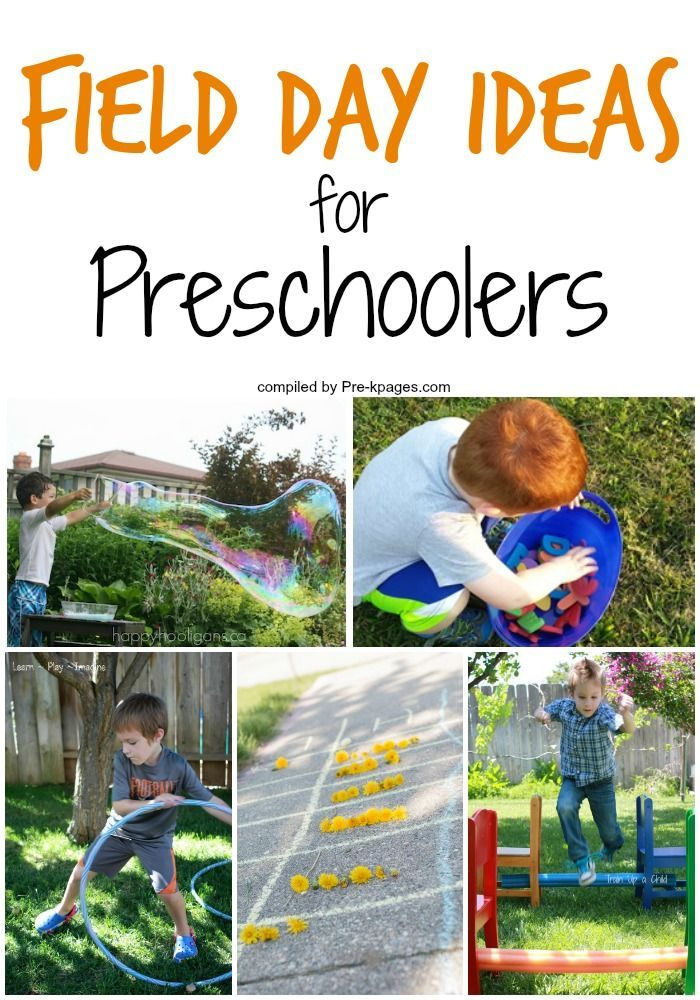 Field Day Ideas for Preschoolers. Having a field day for Preschool? Here's a list of age-appropriate fun-filled activities for a stress-less field day!