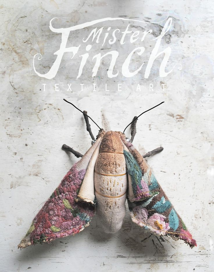 Scraps of thread, fabric and paper are stitched and pulled into fairytale creatures looking for new owners and worlds to inhabit. They hide in the woods, behind masks, some have died along the way and are buried under spoon lockets. Finch works alone and makes everything himself by hand in a studio full of books, glass jars and naughty cats.