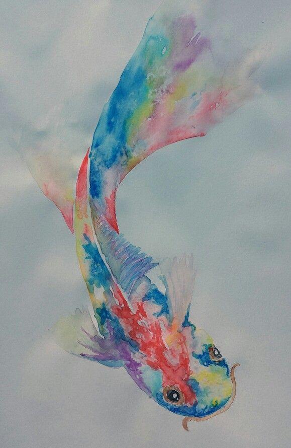 Koi, watercolor
