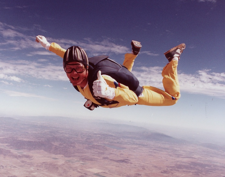 jump out of a perfectly good plane and survive (aka sky diving)
