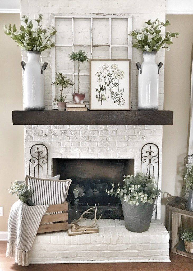 My Pottery Barn Shelf Mantel Hack Bless This Nest Farm House Living Room Pottery Barn Shelves Fireplace Mantel Decor