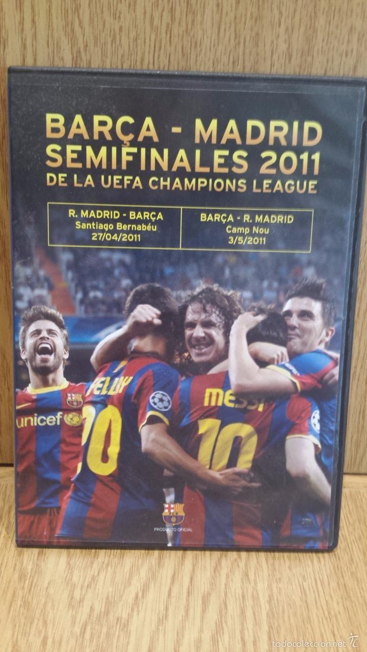 BARÇA - MADRID / SEMIFINALES 2011 DE LA UEFA CHAMPIONS LEAGUE / DVD COMO NUEVO.