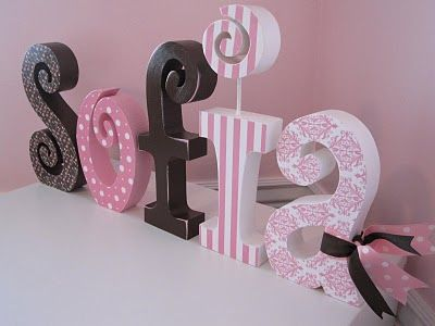 modge podge name letters..I love this