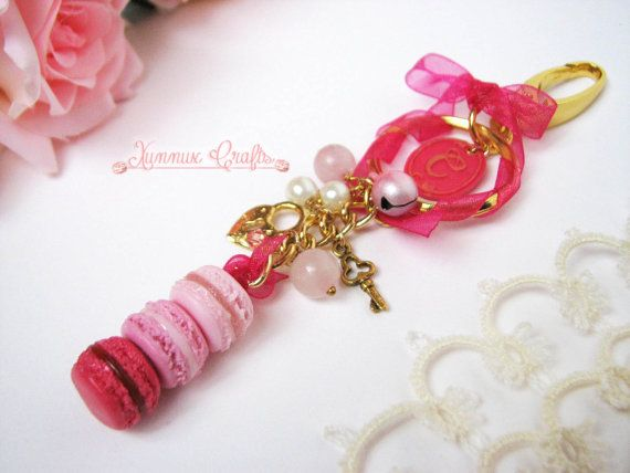 Strawberry fields baubles and macaron mirror charm by xunnux