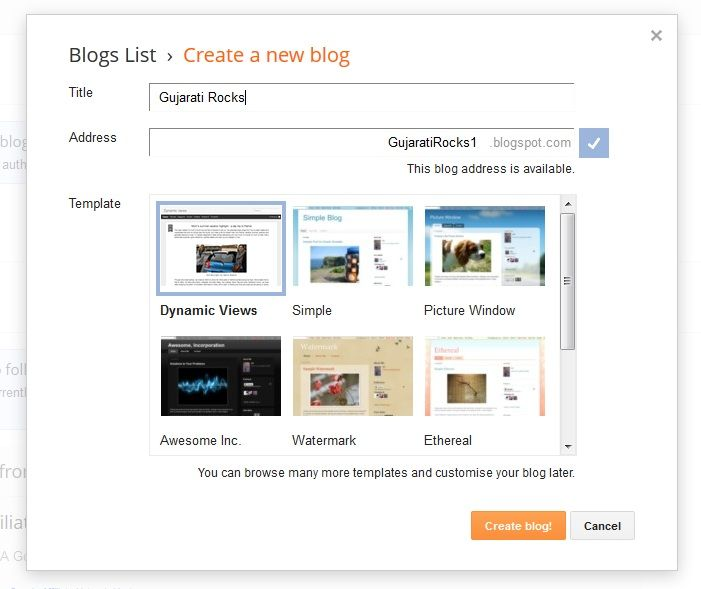 Gujarati Mirror: How to create a blog on blogger 2012-13 / Blogger tutorial in Gujarati