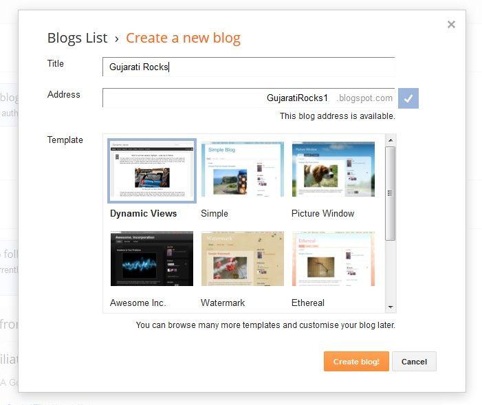 Gujarati Mirror: How to create a blog on blogger 2012-13 / Blogger tutorial in Gujarati