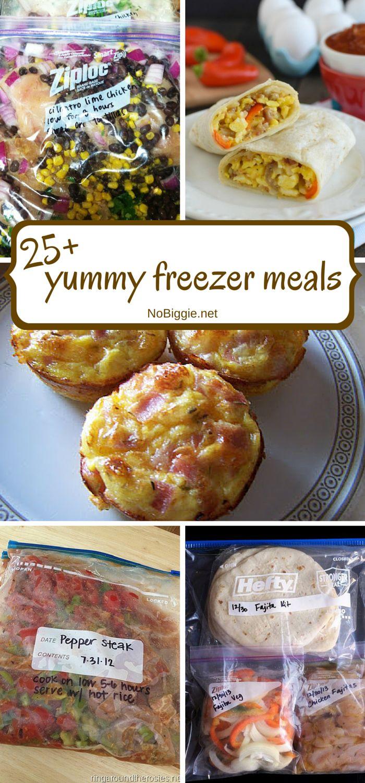 25+ yummy freezer meals - NoBiggie.net #recipe