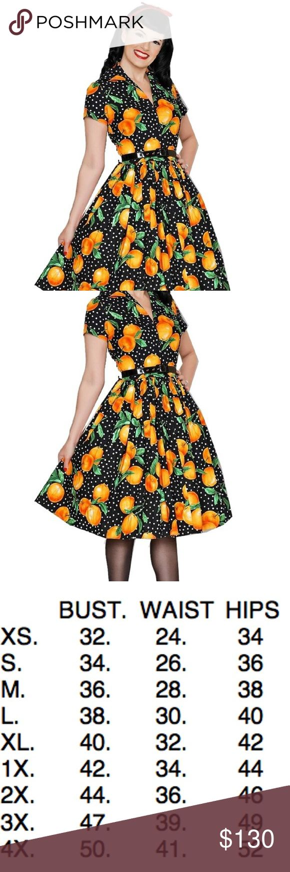 Bernie Dexter Drive In Juicy Oranges Dress If you like Kelly and Lauren you will love this zip front dress!    100% cotton long zipper in back hidden lipstick pockets made in the USA DRY CLEAN or Cold Wash hang dry Bernie Dexter Dresses Midi