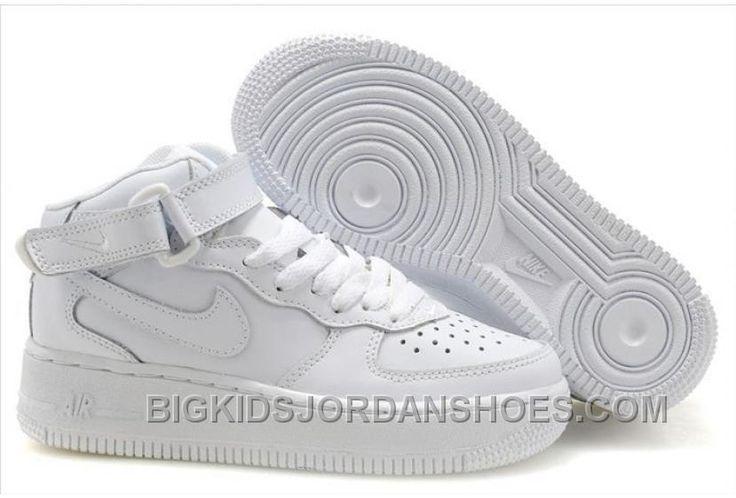http://www.bigkidsjordanshoes.com/hot-nike-air-force-1-high-kids-all-white.html HOT NIKE AIR FORCE 1 HIGH KIDS ALL WHITE Only $85.00 , Free Shipping!