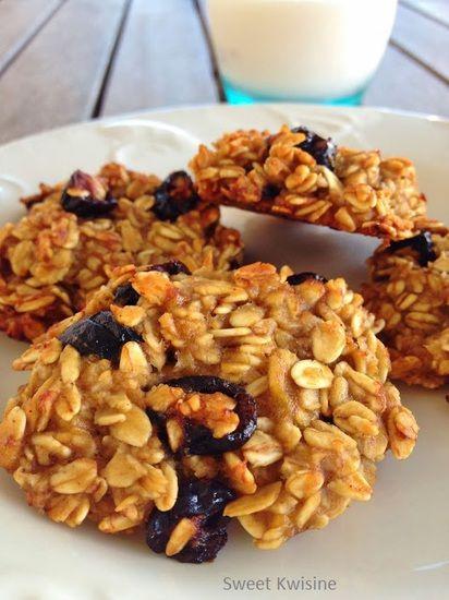 Cookies bananes et cranberries : la recette facile