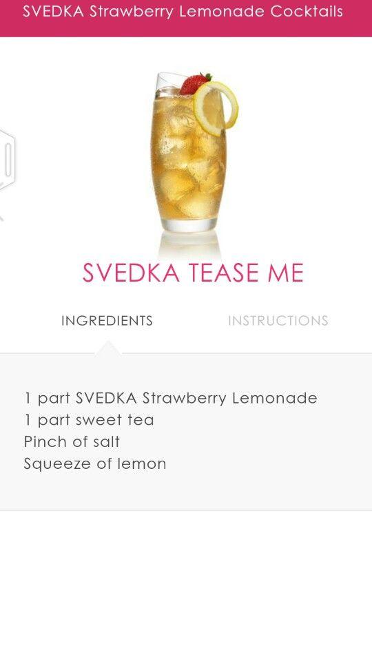 Svedka strawberry lemonade tea. #svedka #drinks #tea