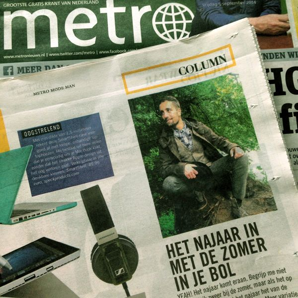 """<p>Voor degene die geen krantje mee hebben kunnen pikken, bij deze de column: HET NAJAAR IN MET DE ZOMER IN JE BOL YEAH! Het najaar komt eraan. Begrijp me niet verkeerd:Ik zweer bij de zomer, maar als het op kleding aankomt wint het najaar het van de zomerse korte broeken <a href=""""http://www.indepaskamer.nl/column-metro-mode-man-5-september-2014/#more-"""" """" class=""""more-link"""">more »</a></p>"""