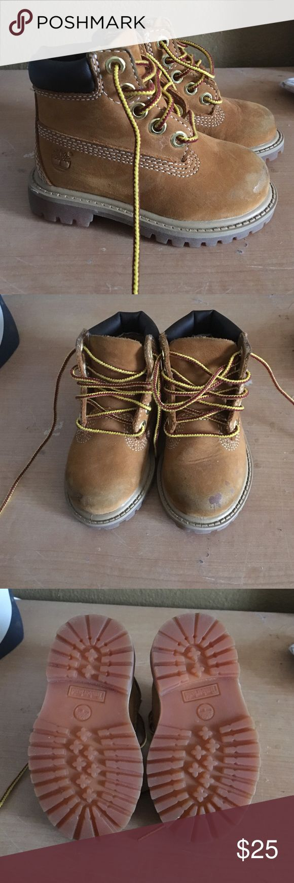 Toddler Boy's Timberland Boots Good condition. Scuffs on front of boots. Timberland Shoes Winter & Rain Boots