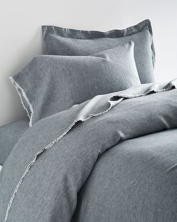 Eileen Fisher Solid Washed Linen Bedding Collection From Garnet