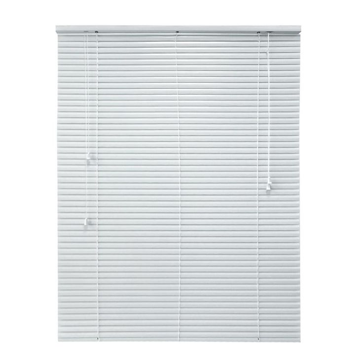 Hampton Bay Cut to Width White 1 in. Room Darkening Aluminum Blind - 20 in. W x 64 in. L (Actual 19.5 in. W x 64 in. L)