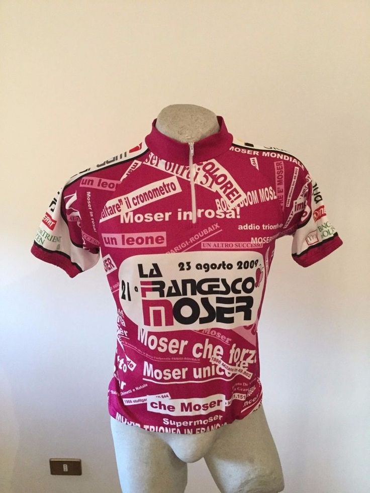 MAGLIA CICLISMO MOSER VIMA 2009 SHIRT CYCLING JERSEY VINTAGE MADE IN ITALY SIZE