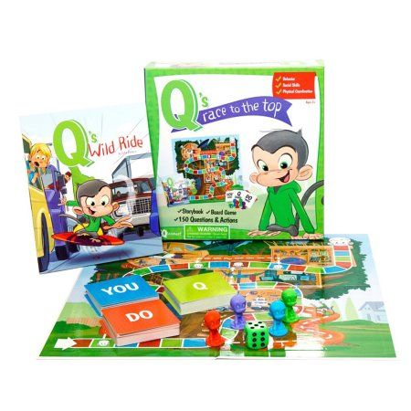 Q's Race To The Top Board Game with Free Book