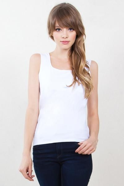 JANE TANKTOP-WHITE - The Shop For Her