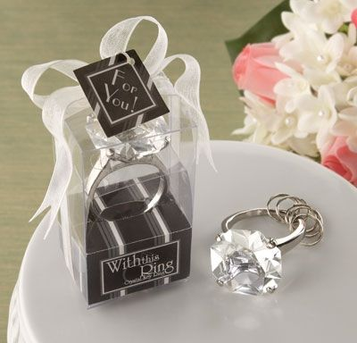"""With this Ring"" Engagement Ring Keychain #thingsengravedwedding"