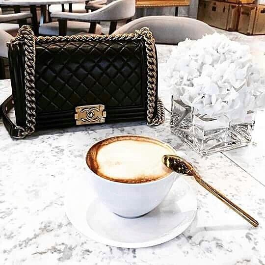That almond milk froth☕️💞#fall #chanel #coffee