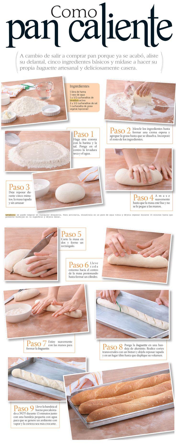 Cómo preparar pan en casa. Pinterest ;) | https://pinterest.com/cocinadosiempre
