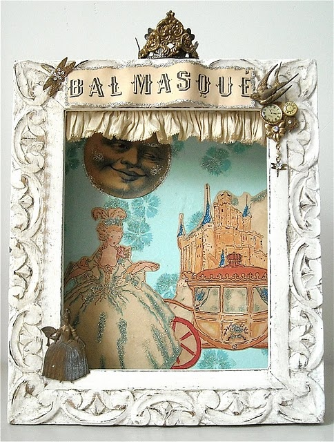 Castles Crowns and Cottages: Box Frame Art, Altered Boxes, Box Castles Crowns, Shadowbox, Artsy Fartsy, Box Creation, Altered Art