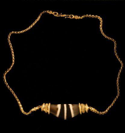 Gold Tibetan necklace