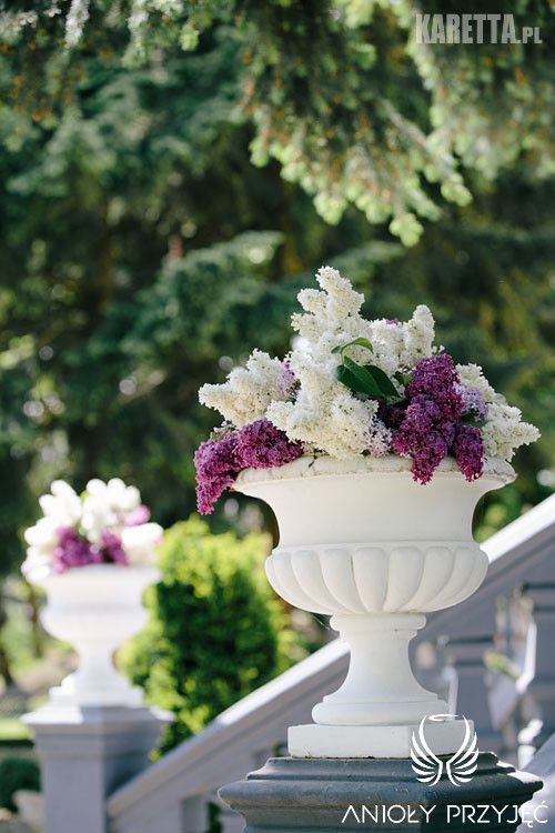 13. Lilac Wedding,Lilac decor,Ceremony decoration / Wesele z bzem,Dekoracja ceremonii,Anioły Przyjęć