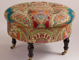 Eclectic Ottomans And Cubes