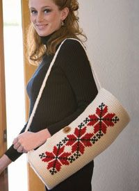 Bag Pattern with Cross-Stitch Crochet Embroidery: Ukrainian Cross-Stitch Bag...Free eBook for 5 Patterns: