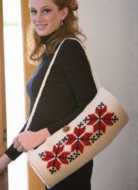 Bag Pattern with Cross-Stitch Crochet Embroidery: Ukrainian Cross-Stitch Bag...Free eBook for 5 Patterns: