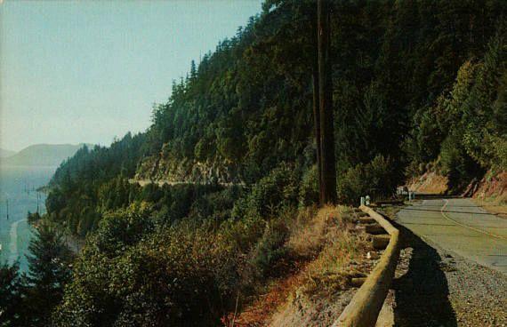 Chuckanut Drive Burlington Washington Vintage Photo Postcard Pacific Highway WA Travel Souvenir by ThriftyTheresa