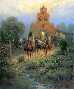 A Trail Into History ~ G. Harvey, oil