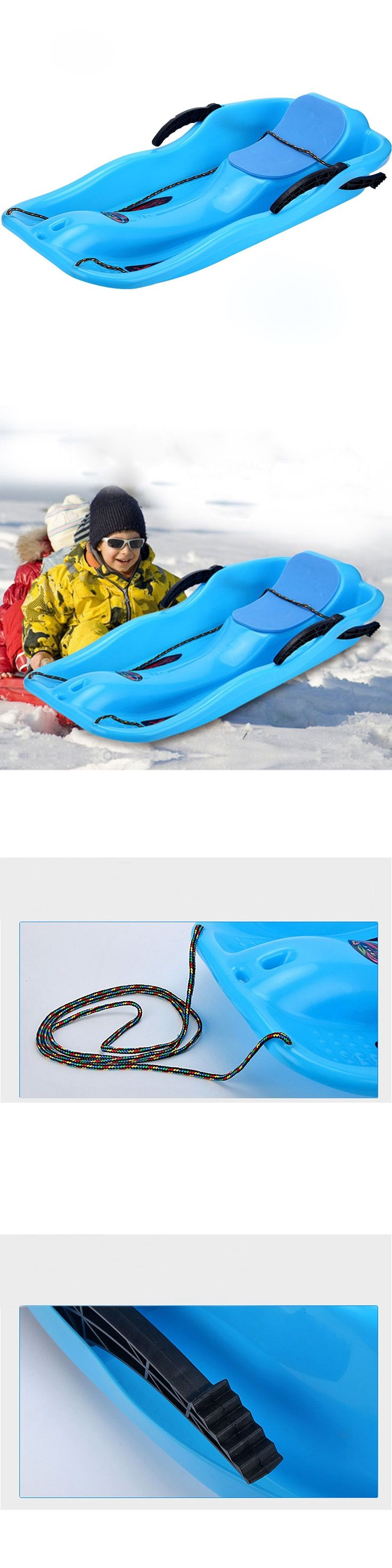 Sleds and Snow Tubes 59892: Snow Sled For Girls Winter Kids Glider E-Joy Boat Sledge Toboggan With Brakes -> BUY IT NOW ONLY: $71.47 on eBay!