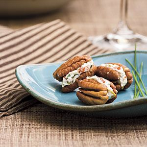 Cream Cheese-and-Olive Pecan Bites: 3 ounces cream cheese, softened 1 ...