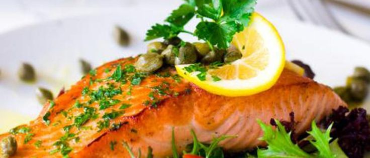 #BiggestLoser Entree: Mustard and Herb Baked Salmon